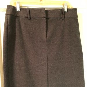 Express knee-length grey flannel skirt